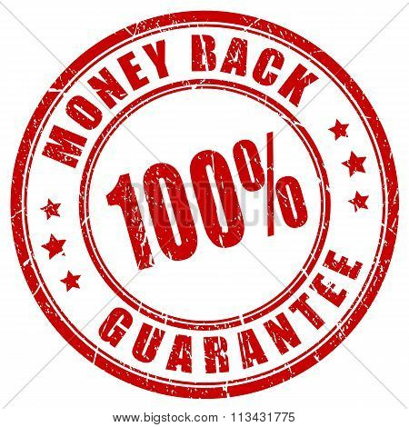 Money back 100 guarantee stamp