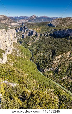 Verdon River,cliffs And Nature Around-france