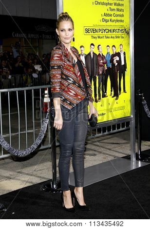 LOS ANGELES, CALIFORNIA - October 1, 2012. Leslie Bibb at the Los Angeles premiere of 'Seven Psychopaths' held at the Mann Bruin Theatre, Los Angeles.