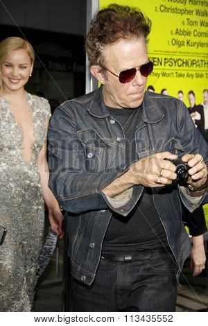 LOS ANGELES, CALIFORNIA - October 1, 2012. Tom Waits at the Los Angeles premiere of 'Seven Psychopaths' held at the Mann Bruin Theatre, Los Angeles.