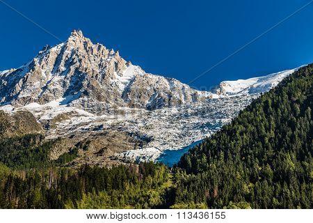 The North Face Of Aiguille Du Midi-chamonix,france