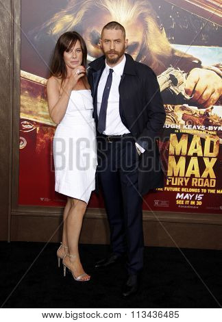 Tom Hardy and Charlotte Riley at the Los Angeles premiere of