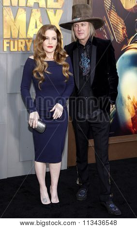 Lisa Marie Presley and Michael Lockwood at the Los Angeles premiere of