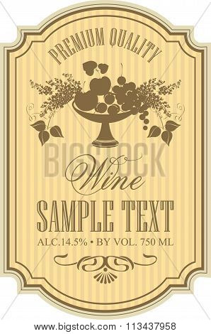 Label For Wine