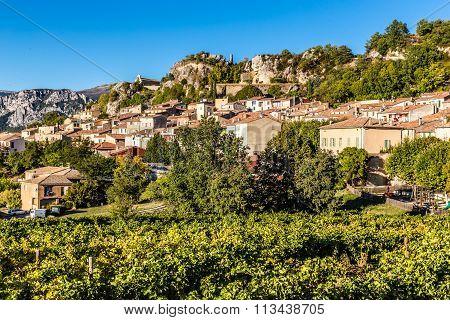 Aiguines Village-alpes De Haute Provence,france
