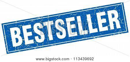 Bestseller Blue Square Grunge Stamp On White