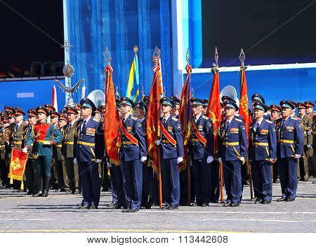 Troops On Parade Line
