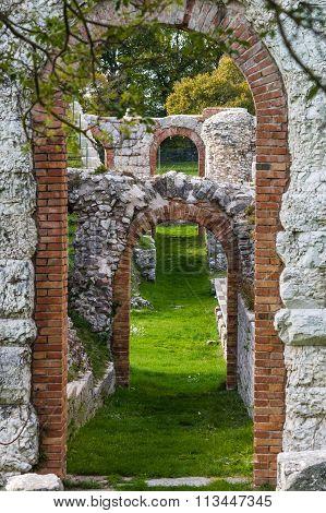 Gubbio Roman Theatre In Italy