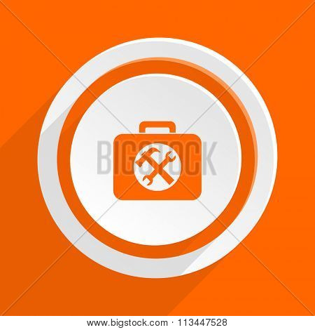 toolkit orange flat design modern icon for web and mobile app