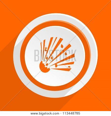 bomb orange flat design modern icon for web and mobile app