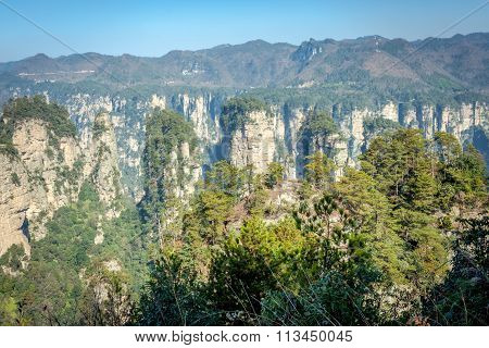 Tianzi Shan Mountain Peak in Zhangjiajie, Hunan Province, China