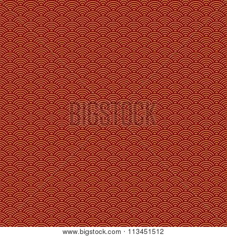 Abstract Chinese New Year seamless pattern, red background, vector illustration.