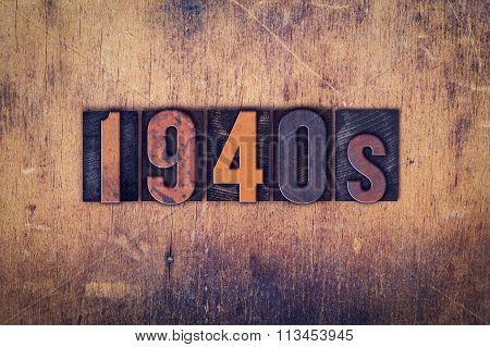 1940S Concept Wooden Letterpress Type