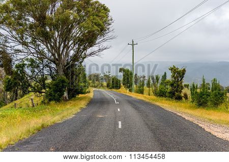 Rural Road In Blue Mountains, Nsw, Australia