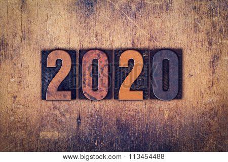 2020 Concept Wooden Letterpress Type