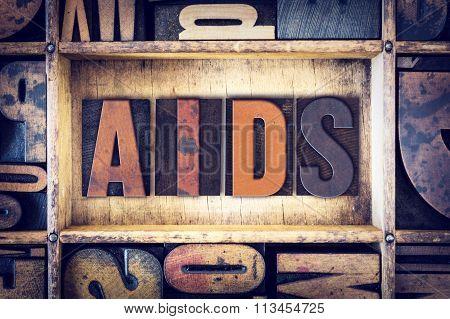 Aids Concept Letterpress Type