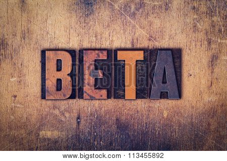 Beta Concept Wooden Letterpress Type