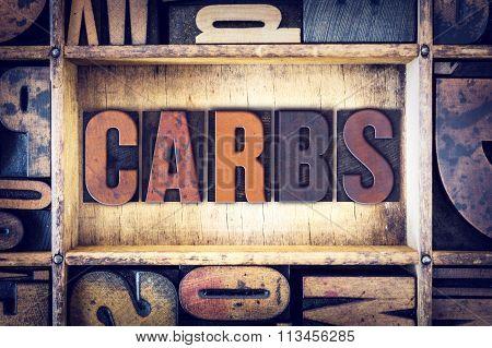 Carbs Concept Letterpress Type
