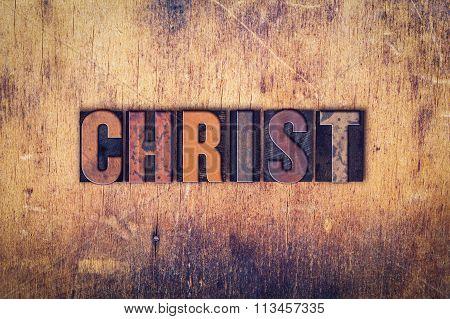 Christ Concept Wooden Letterpress Type