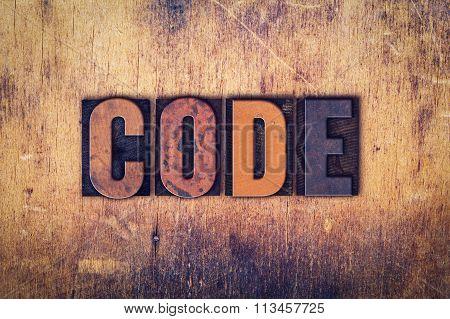 Code Concept Wooden Letterpress Type
