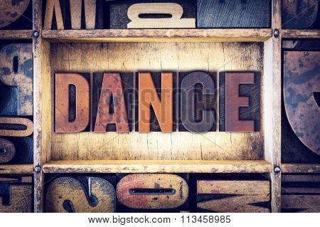Dance Concept Letterpress Type