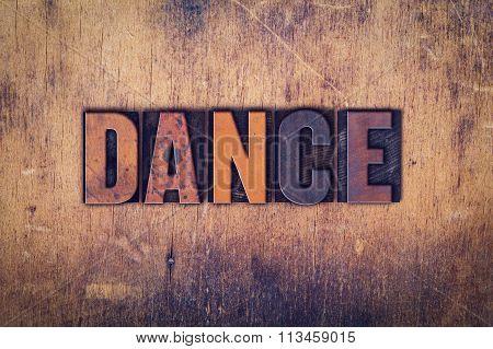 Dance Concept Wooden Letterpress Type