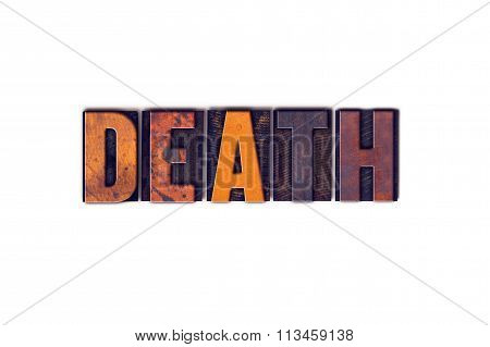 Death Concept Isolated Letterpress Type