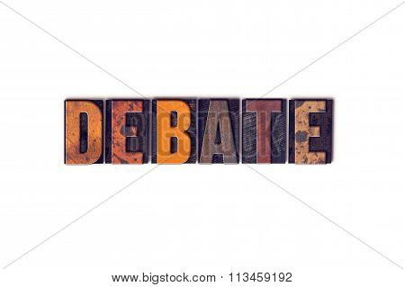 Debate Concept Isolated Letterpress Type