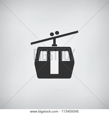 Funicular Railway. Single Flat Icon.