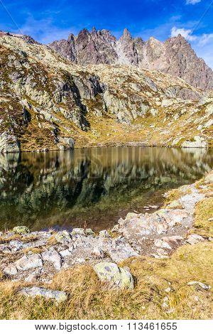 Lac Blanc With Aiguilles Des Rouges-france