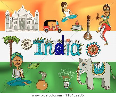 Republic india background