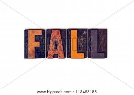 Fall Concept Isolated Letterpress Type