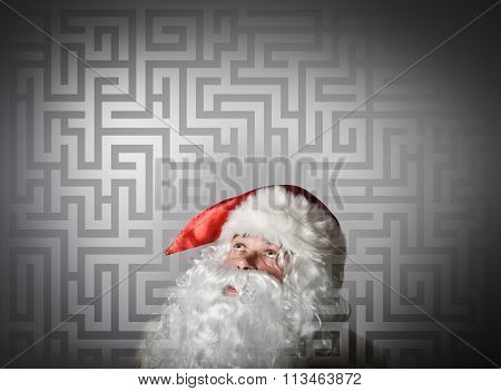 Santa Claus And Maze