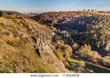Prague From Prokop Valley-hlubocepy,czech Republic