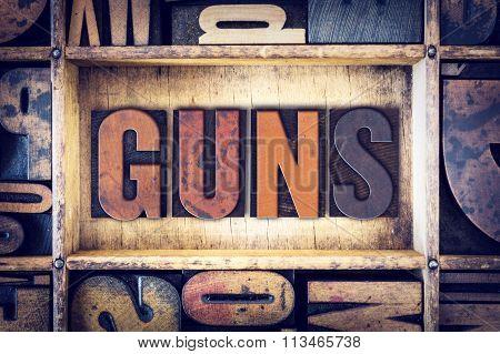 Guns Concept Letterpress Type