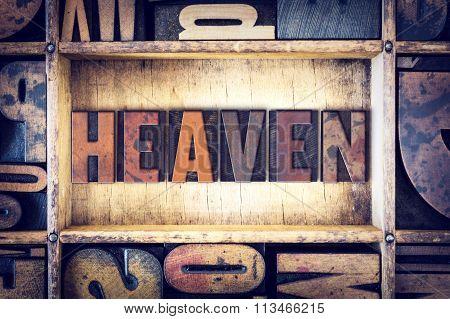 Heaven Concept Letterpress Type