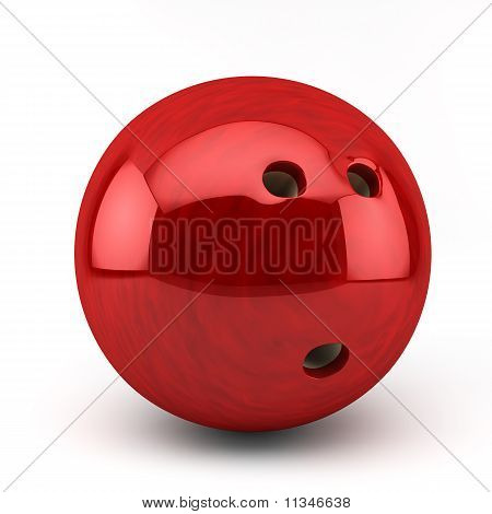 red bowling ball