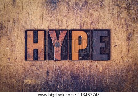 Hype Concept Wooden Letterpress Type