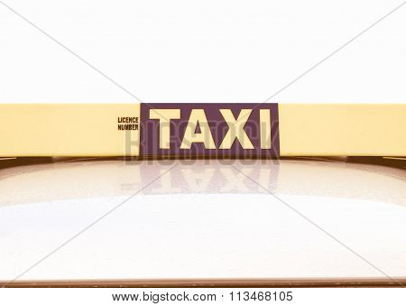 Taxi Sign Vintage