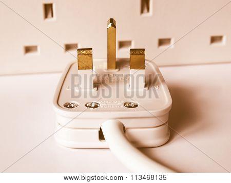 British Plug Vintage