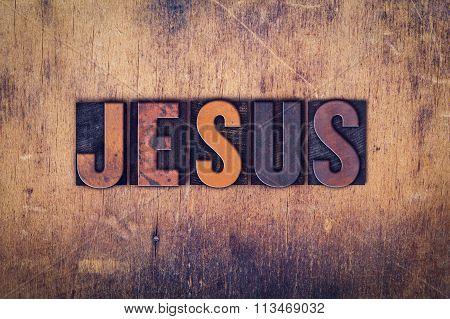 Jesus Concept Wooden Letterpress Type