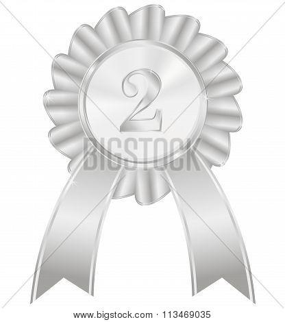 Second Place Silver Award Ribbon