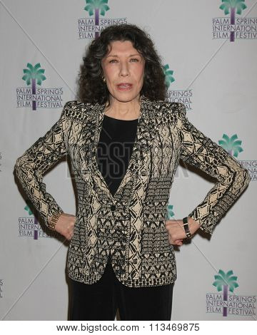 PALM SPRINGS - JAN 4:  Lily Tomlin at the Grandma Q and A at PSIFF at the Annenberg Theater at Palm Springs Art Museum on January 4, 2016 in Palm Springs, CA