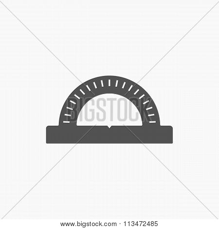 Stationery Protractor Icon Vector