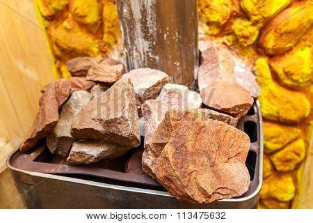 Photo Of Granite Stones On Sauna Stove