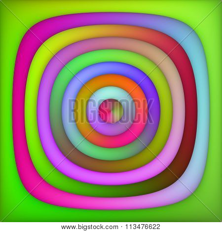 Raster Multicolor Green Pink Shades Gradient Concentric Circles Abstract Background