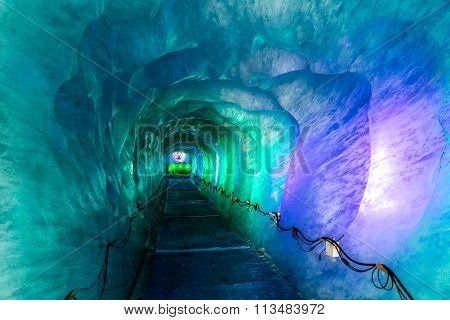 Ice Cave In Mer De Glacer Glacier-chamonix,france