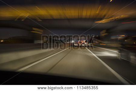 Car In Motorway