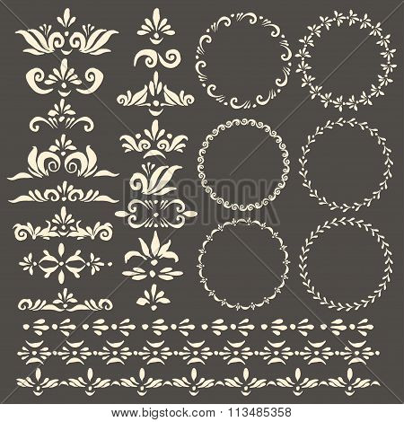 Vector Decorative Design Elements Set