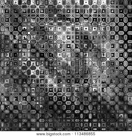 art abstract geometric monochrome black, grey and white graphic tiled background